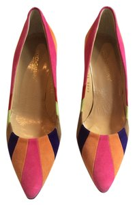 Dolce&Gabbana Colored Stripe Heel Multi Pumps