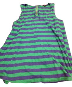 Lilly Pulitzer Top Green and blue stripe