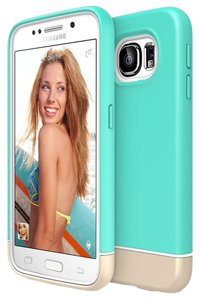 Other Samsung Galaxy S6 Turquoise / Champagne Gold Case