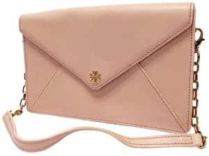 Tory Burch Envelope Spring Date Night Saffiiano Leather Blush Clutch