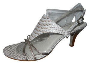 Carlos by Carlos Santana Leather white & gold Sandals