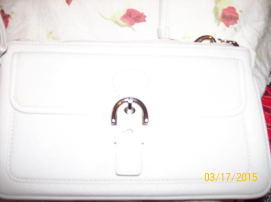 Coach Leather Wristlet in Ivory
