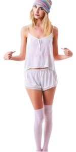 Wildfox Top ivory and pink