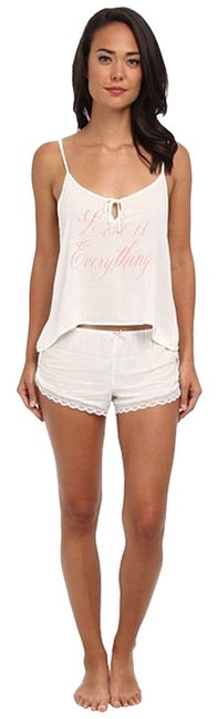 Wildfox New With Tags Pjs Intimates Shorts Top ivory white pink