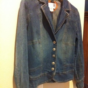 Live A Little Denim Jean Coat Shirt Top Festival Blue Jacket
