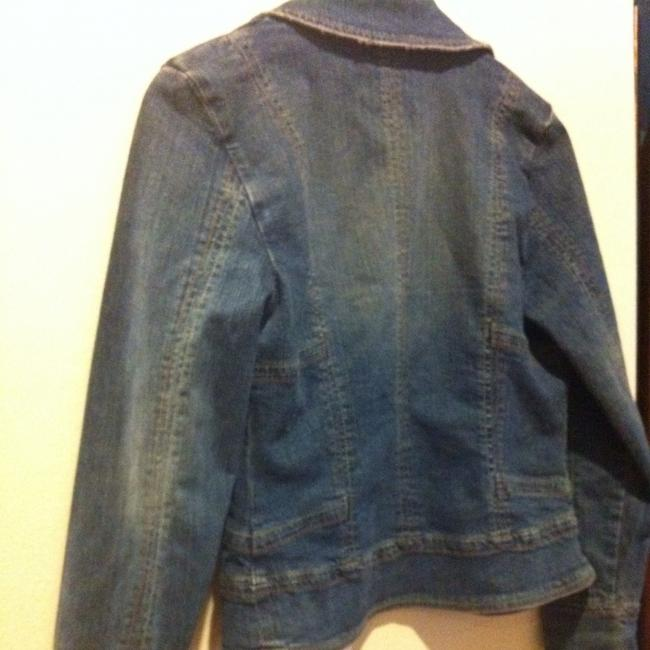 Live A Little Denim Jen Cot Shirt Top Festivl Blue Jacket