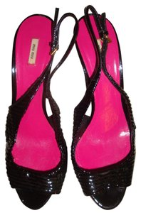 Miu Miu Black/Pink/Purple Sandals