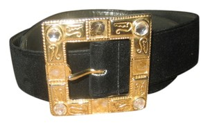 The Ritz Accessories Collection Ritz Collection Black Felt Belt Size Medium