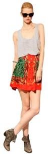 Pixie Market Mini Skirt Red & Green