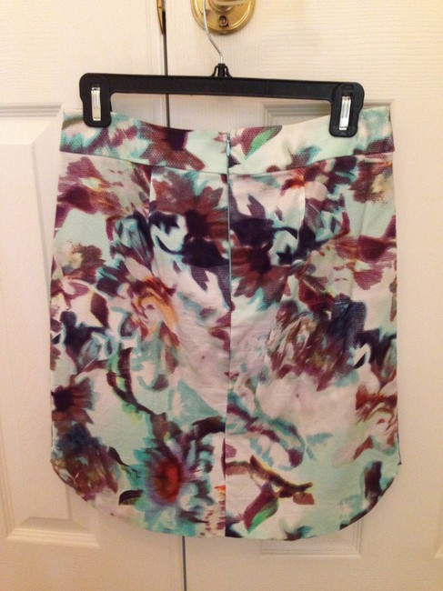 Anthropologie Scoop Hem Skirt Multi Colored