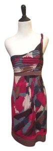 BCBGMAXAZRIA short dress Red/Wine/Black/White/Gray on Tradesy