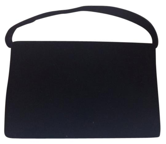 Hillard & Hanson Velvet Evening Bg Evening Purse Optional Cord Prom Dance Holiday Simple Elegance Elegant Satchel in Black