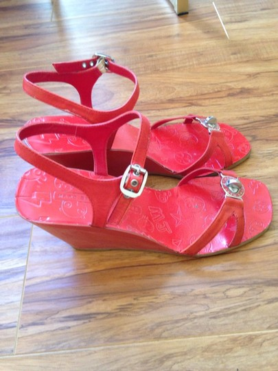 Marc Jacobs Red/Orange Sandals