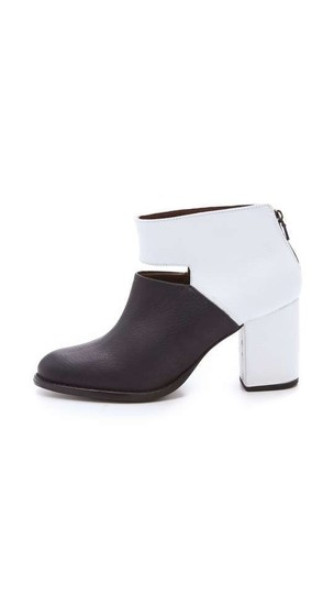 Rachel Comey Black & White Leather Boots