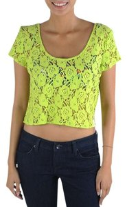 Volcom Beach Lace Neon T Shirt Lime
