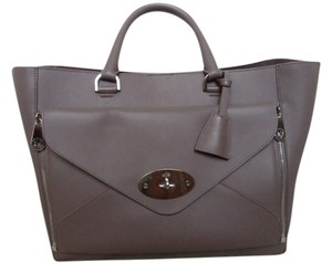 Mulberry Leather Two-in-one Tote in Taupe