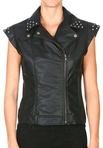 Volcom Faux Leather Studded Punk Vest