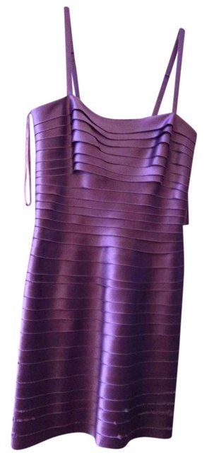 BCBG Max Azria Fitted Ribbed Mini Party Dress