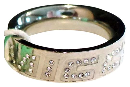 Miss Sixty MISS SIXTY Lovely Stainless Steel and Crystal Ring NEW