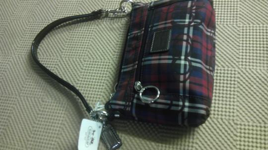 Coach Multi Small Wristlet in red, white, black