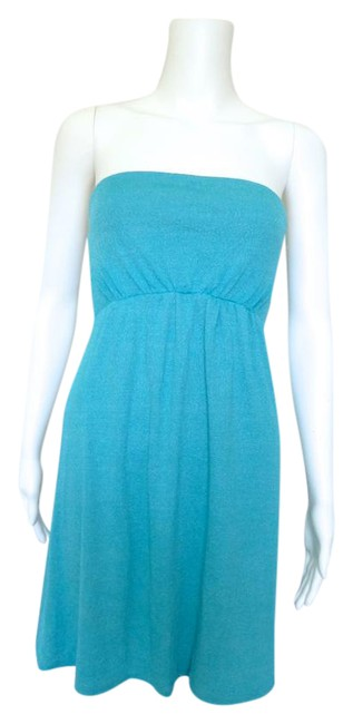 Preload https://item3.tradesy.com/images/michael-stars-turquoise-tunic-dress-fits-most-blouse-size-os-one-size-3855772-0-2.jpg?width=400&height=650
