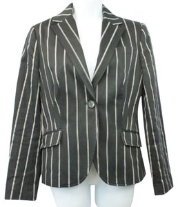 Zara Black White Stretch Blazer