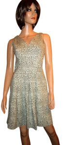 Banana Republic Leopard Sleeveless 100% Cotton Dress