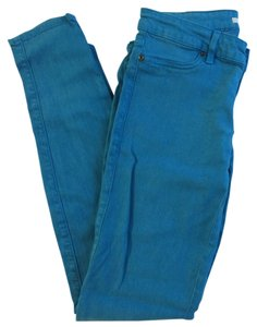 Rich & Skinny Blue Denim Skinny Jeans-Coated