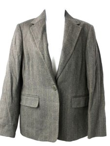 Wool Stripes Gray Blazer