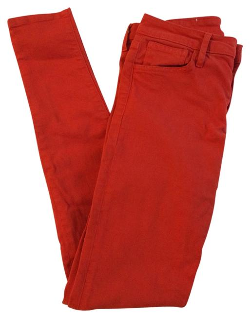 Item - Red Coated Skinny Jeans Size 29 (6, M)