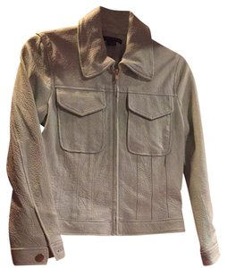 Theory Pale Green Leather Jacket