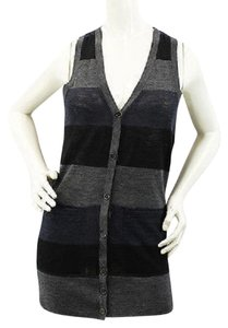 Theory Sleeveless Wool Stripes Top