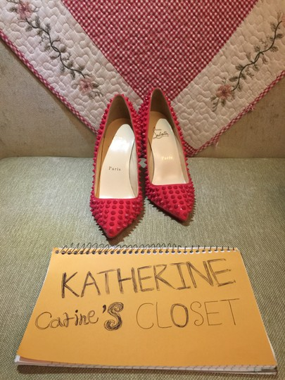 Christian Louboutin Rivets Pigalle Spikes red Pumps