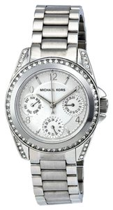 Michael Kors Michael Kors Silver Dial Silver tone Crystal Bezel Stainless Steel Ladies Watch