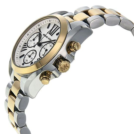 Michael Kors Michael Kors Two Tone Gold and Silver White Dial Ladies Watch