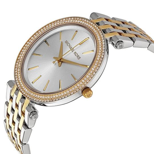 Michael Kors Michael Kors Silver Dial Two Tone Gold and Silver with Swarovski Crystals Ladies Watch