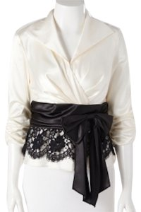 Helene Blake Warp Shirt Black And White Satin Shirt Gifts For Her Top