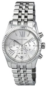 Michael Kors Michael Kors Silver Tone Chronograph Stainless Steel Ladies Watch