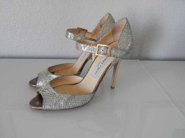 Item - Silver Lace Mary Jane Pump Formal Size US 8
