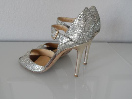 Jimmy Choo Silver Lace Mary Jane Pump Formal Size US 8
