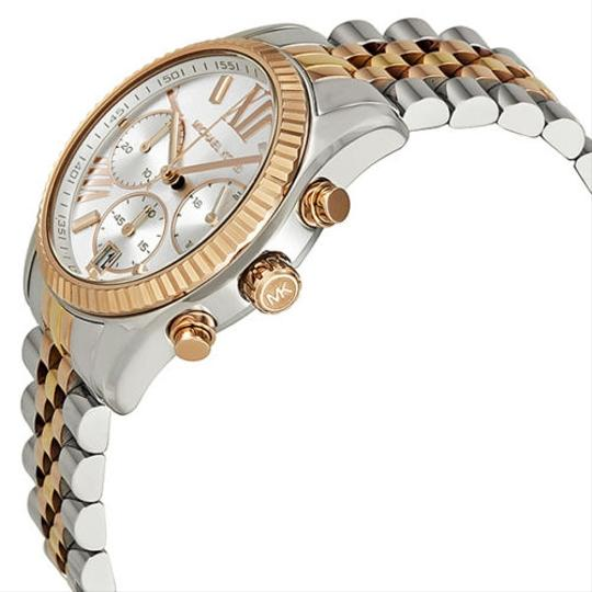 Michael Kors Michael Kors Chronograph Tri-Tone Gold, Rose Gold , Silver Ladies Watch