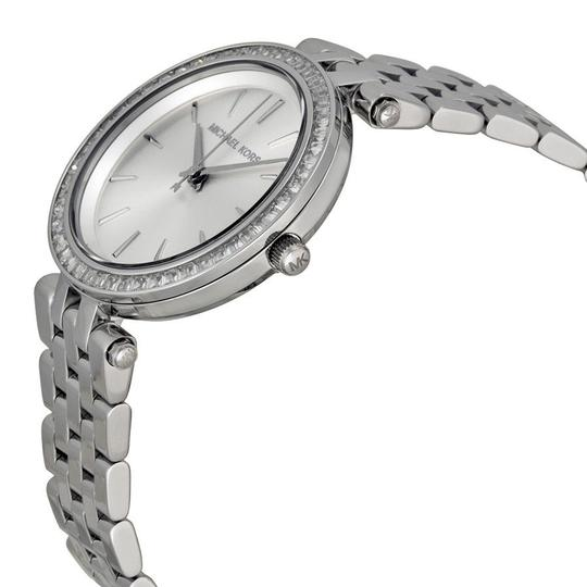 Michael Kors Michael Kors Crystal Bezel Silver Dial Silver Stainless Steel ladies Fashion Watch