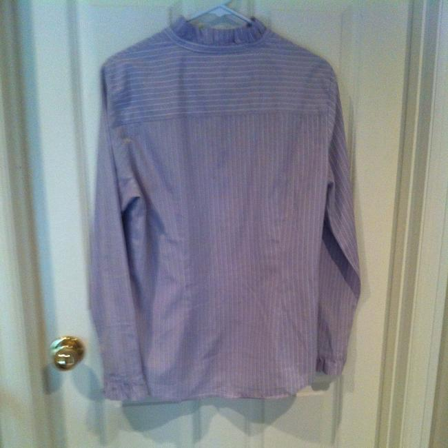 Gap Top Lavender With White Pinstripe