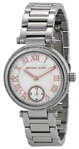 Michael Kors Michael Kors White Dial Silver Tone Ladies Watch