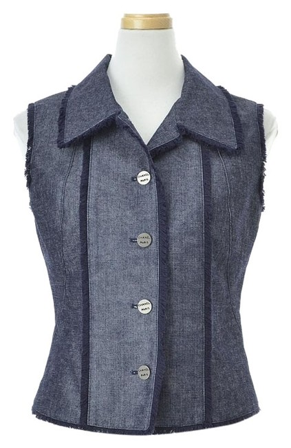 Chanel Women's Clothing Vests 61067660 Top Blue