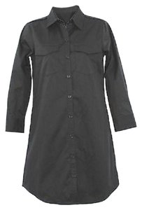 Theory short dress Button Down Black Shirt 4 on Tradesy