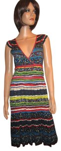 Marc Jacobs Sheath Cap Sleeve Rayon Ethnic Boho Dress