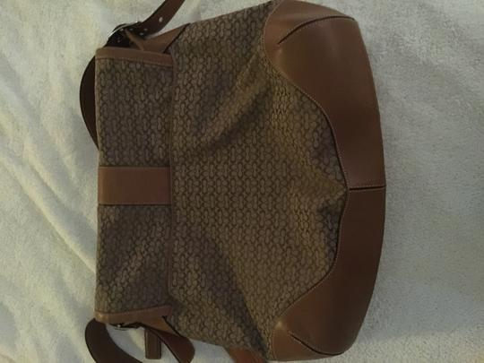 Coach Signature Canvas Travel Students Work Laptop Brown Messenger Bag