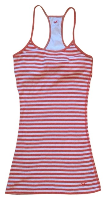 Preload https://item2.tradesy.com/images/hollister-tank-top-orange-and-white-3858121-0-0.jpg?width=400&height=650