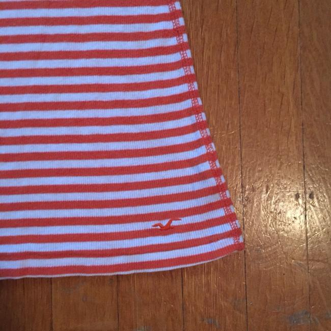 Hollister Top Orange And White